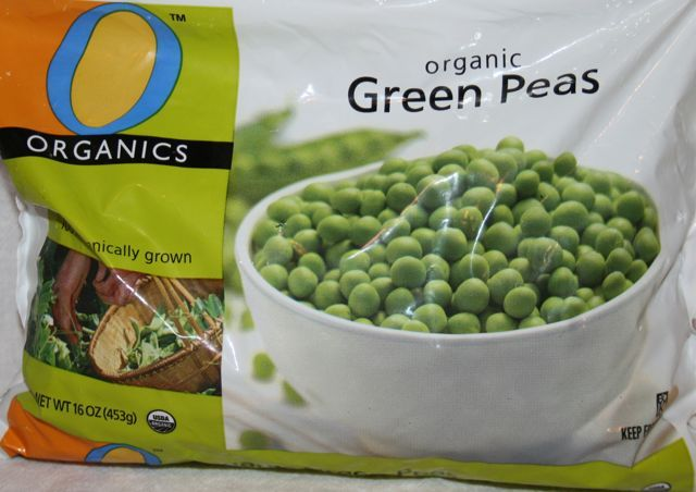Frozen green peas:  If you are having a hard time feeling full, these are for you! High in protein with a little starch, green peas make great salads, sides, and snacks. I thaw them under hot water in the sink and eat them raw. Toss them with sweet bell pepers, cucumbers, and onions with some dressing for a salad. Steam lightly and add coconut oil and pepper for a side. Add into pot pie recipes and more!