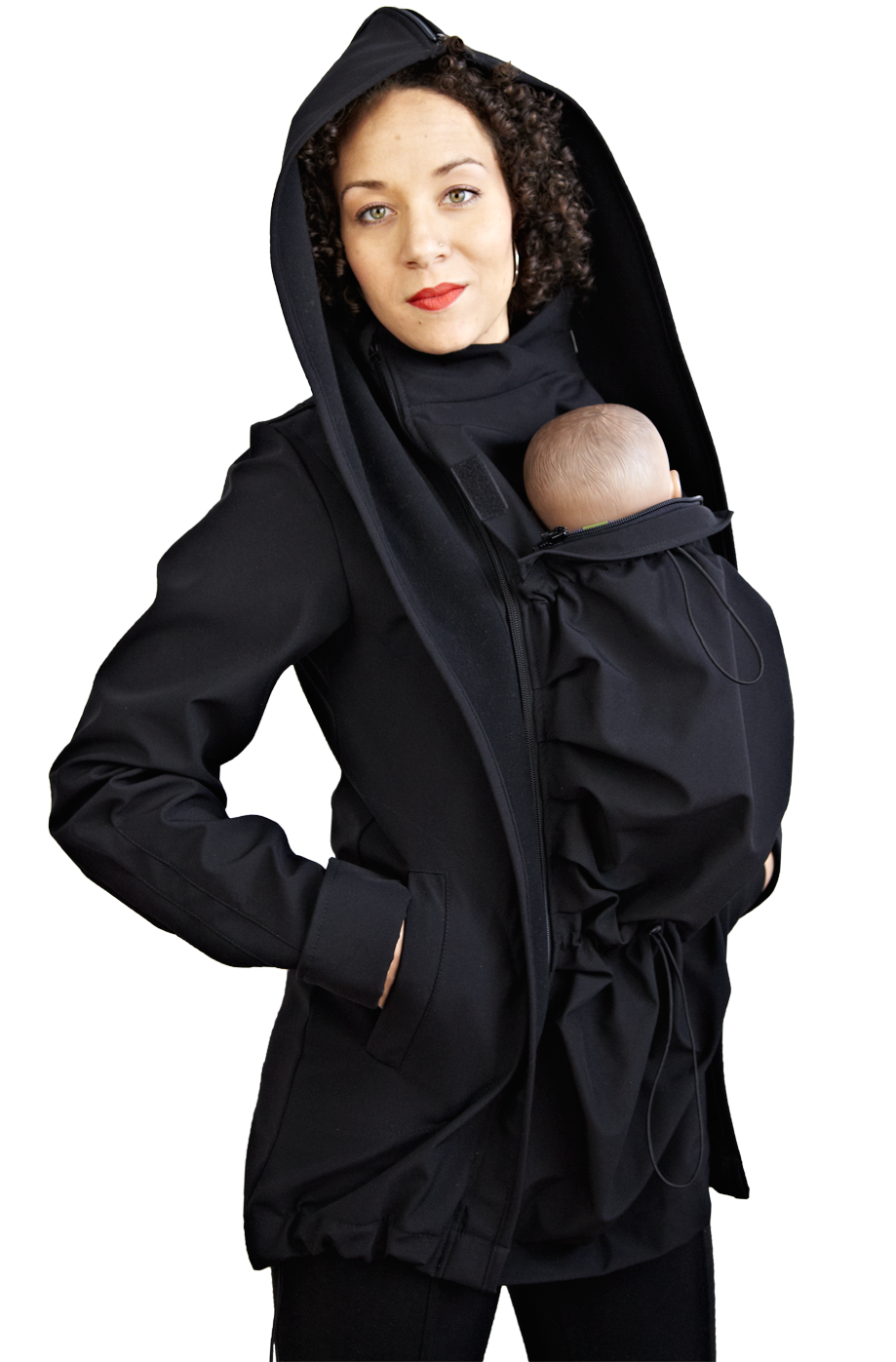 9fffaae3c5710 LennyLamb Softshell Babywearing Coat - Black | Baby wearing | Baby ...