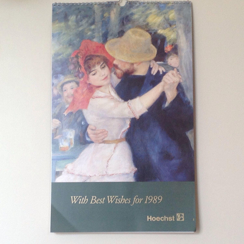 1989 Calendar Vintage As New 1989 Hoechst Art Calendar Renoir