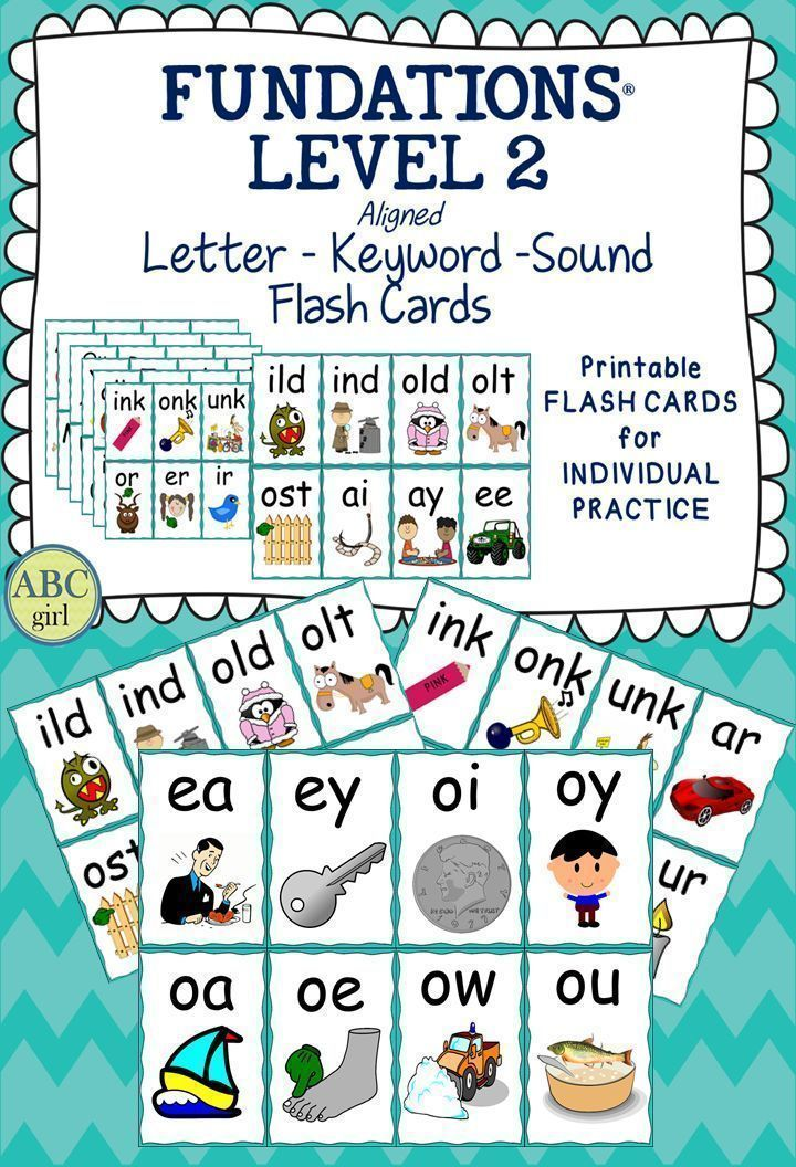 Fundations level 2 flash cards a great way to reinforce
