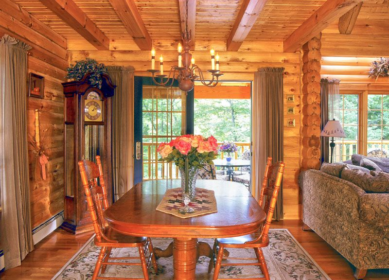 Log Cabin Window Treatments | Window Treatments For French Doors
