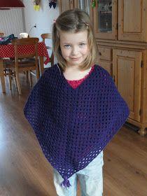 Mijn hobby hervonden!: poncho voor mijn dochter