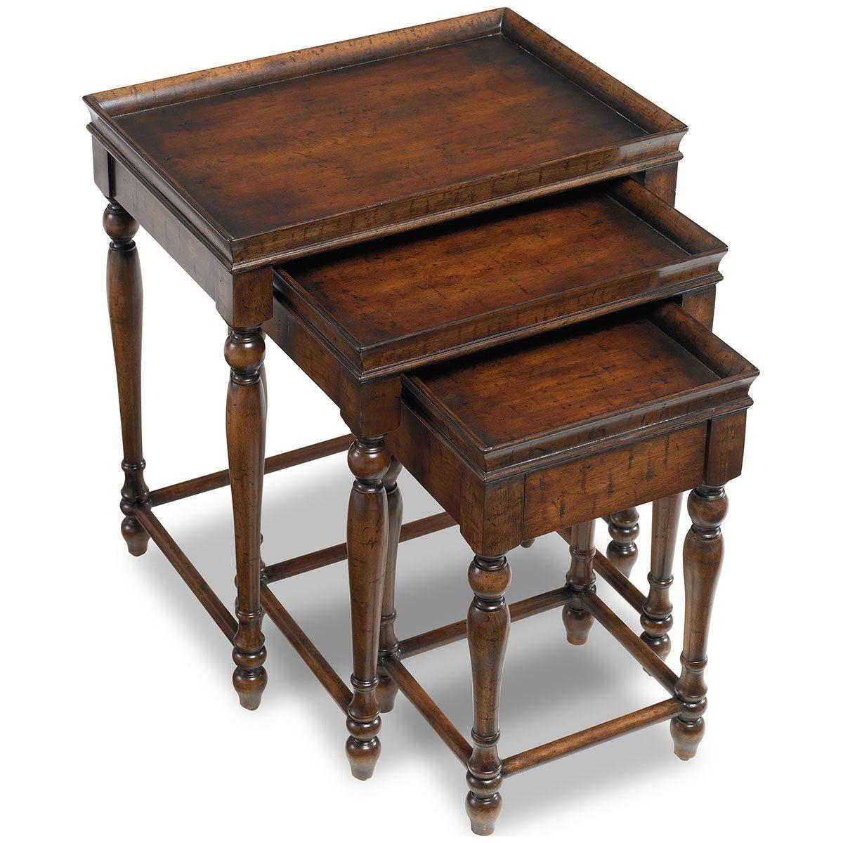 Hooker furniture nest of three tables hooker furniture