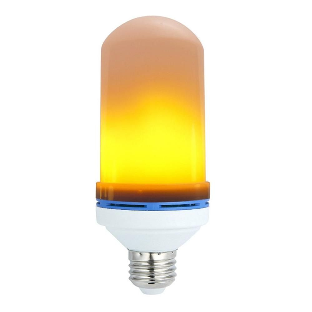 E27 7w Led Flame Effect Fire Light Bulbs Flickering Emulation