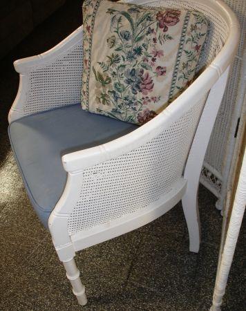 white, rattan barrel chair for $50 - Cape Coral dealer ...