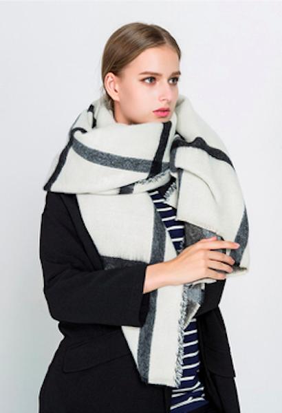 cfd7c200e5 Women Winter Scarf Cashmere Pashmina Plaid Print Scarves Luxury Brand Large Shawl  Thick Warm Echarpes Cape 200*80CM 3422