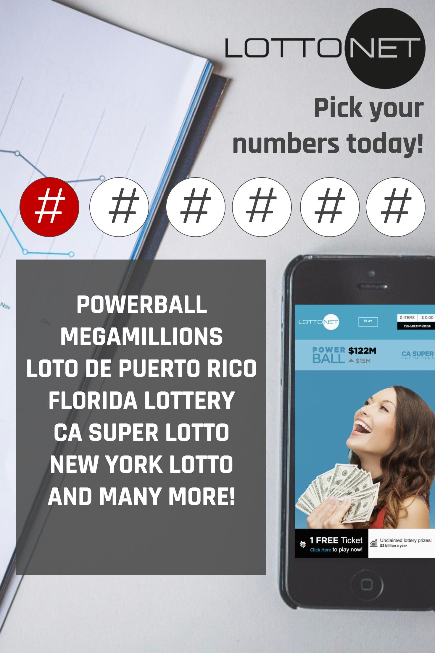 Playing the #LOTTO with LottoNet is easy, fast & convenient - Simply choose your #lottery, pick your numbers, and confirm for a chance to become a millionaire TODAY! www.getlottonet.com Powerball Mega Millions Florida Lottery Loto de Puerto Rico and many more available!