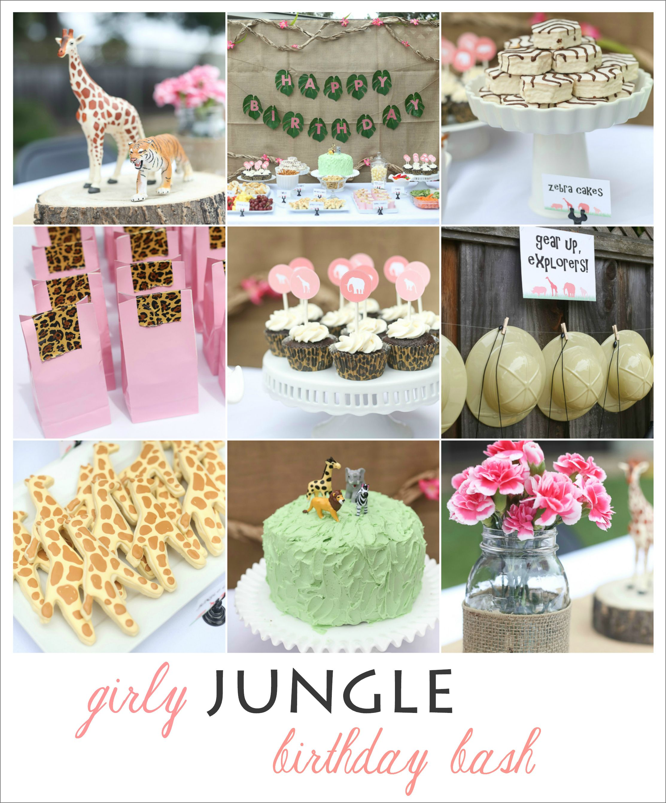 girly jungle birthday bash