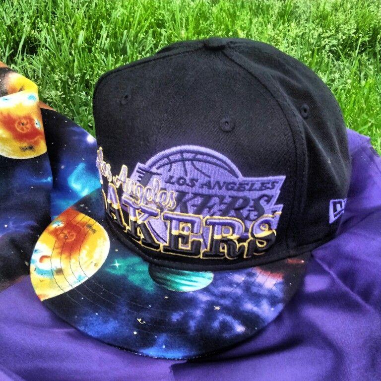 97e04594df2 Custom Galaxy L.A. Lakers snapback