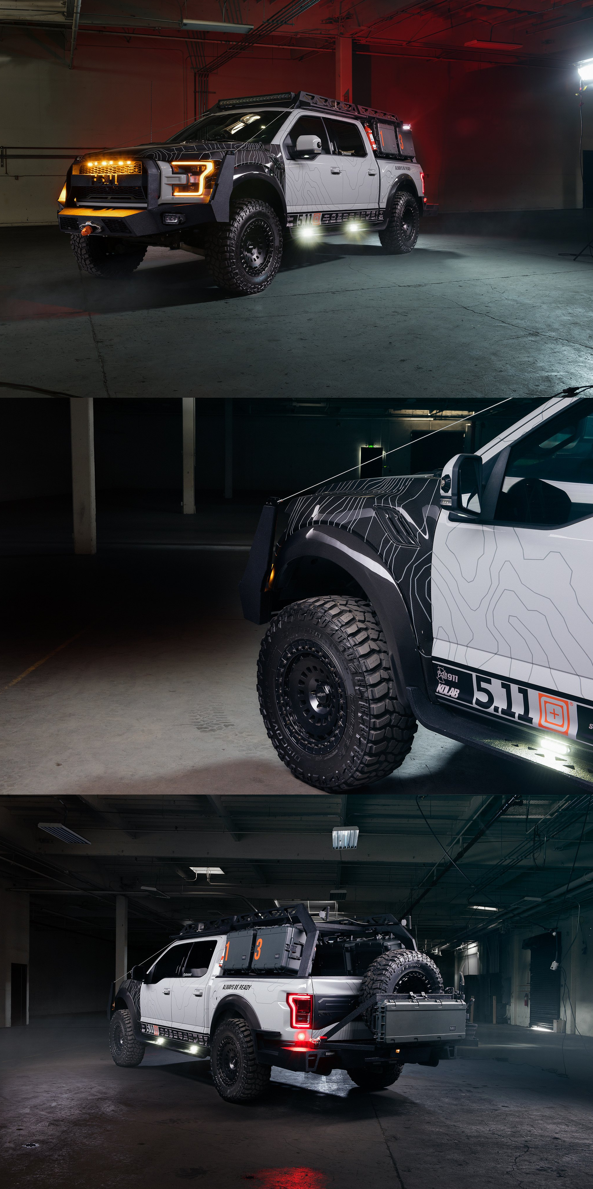 Royal Appearance Of Gray Lifted Ford Raptor With Black Custom Wheels For Trucks Choose Your New Set At Carid Com Photos By Roti Lifted Ford Ford Raptor Ford