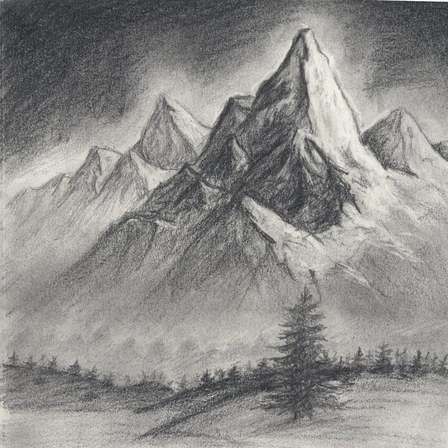 Mountain Scene Drawing Related Keywords & Suggestions ...