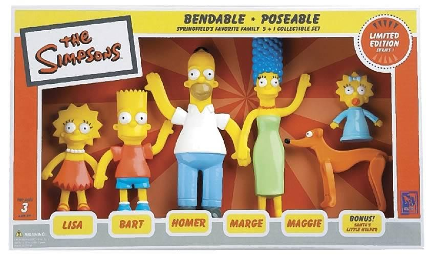 Series 1 The Simpsons Bendable-Poseable Limited Edition 6-Piece Collectible Set