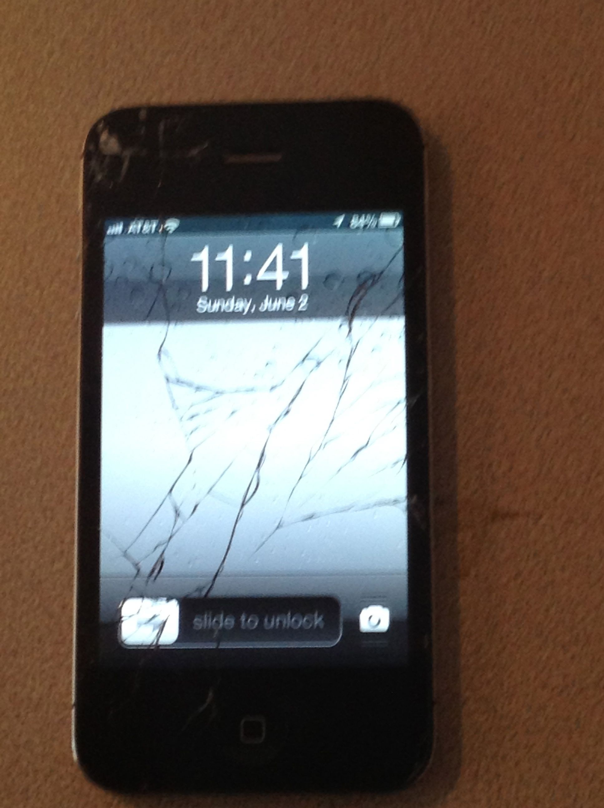 This is what my iPhone 4S looked like after I dropped it