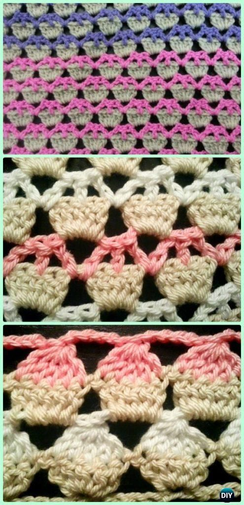 Crochet Cupcake Stitch Free Pattern Video Crochet Pinterest