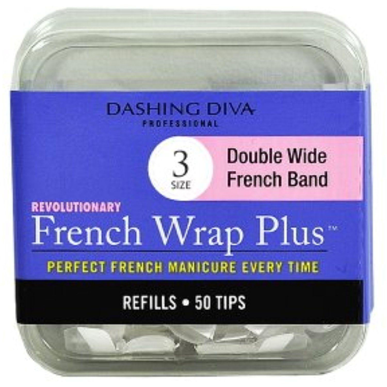 Dashing Diva French Wrap Plus Thick Nail Strips White, Size No.3, 50 ...