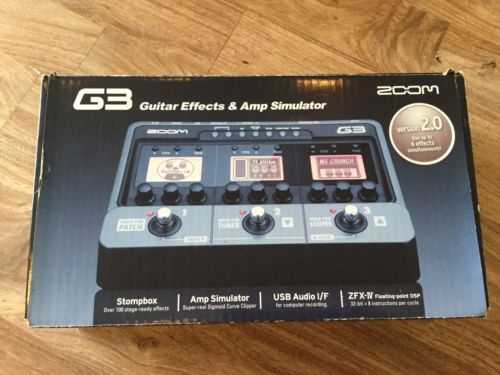ZOOM G3 Guitar effects and Amp Simulator Version 2 0