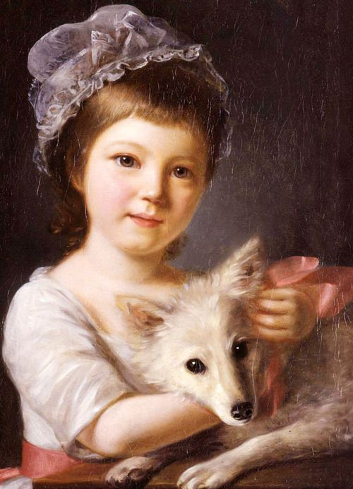Young Girl with a Dog, 1776.