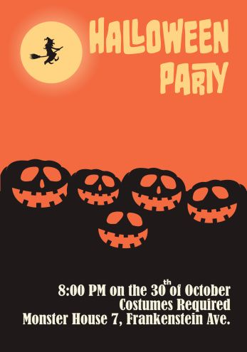 Halloween Party Poster Template - Pumpkin Heads halloween poster - halloween poster ideas