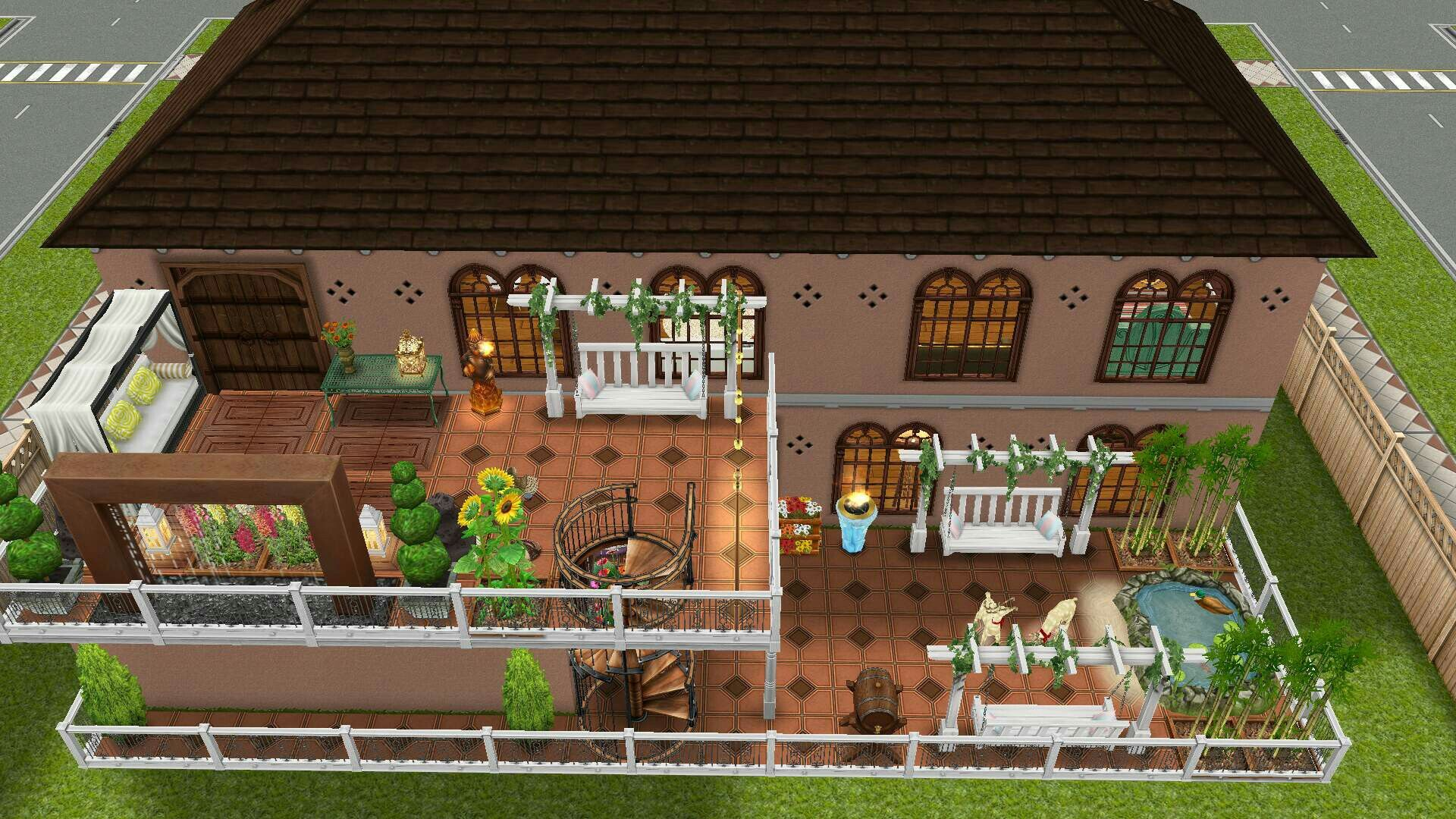 #Sims Freeplay Latin Villa Home Backyard