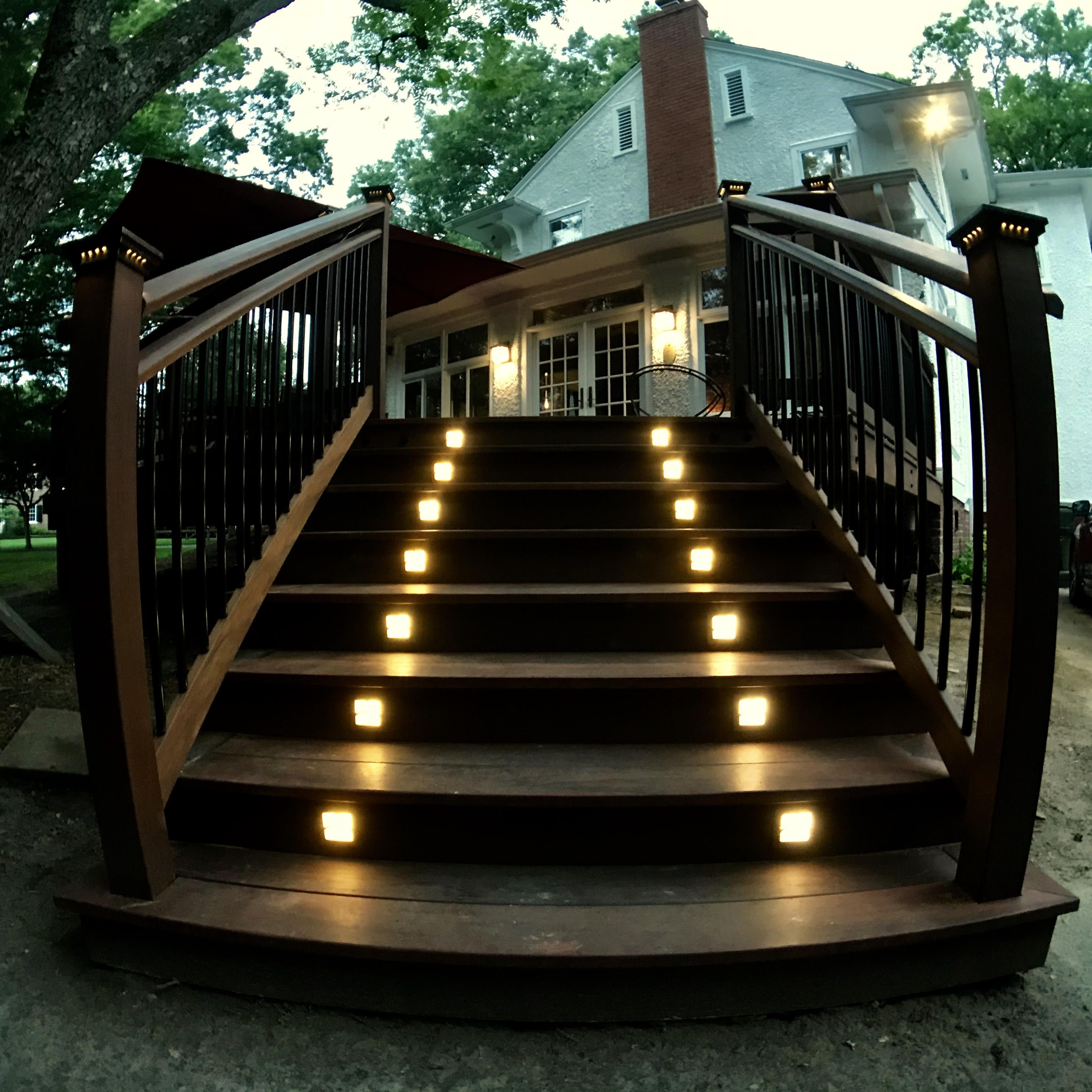 Moab Recessed Led Riser Light By Highpoint Deck Lighting Deck Lighting Step Lighting Outdoor Deck Lighting