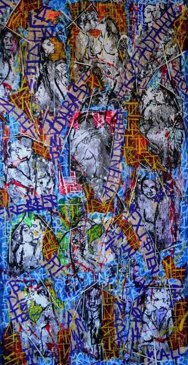 "Saatchi Art Artist Franck de las Mercedes; Collage, ""Sappho's Garden"" #art"