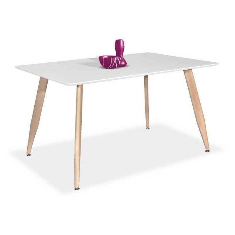 Mesa comedor económica diseño nórdico roble blanco 120 cm. | ideas ...