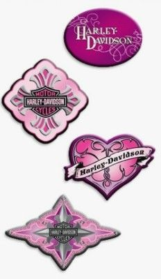 Harley Davidson Pink Bar Shield Logo Decal D Stickers On EBay - Stickers for motorcycles harley davidsonsmotorcycle decals and stickers