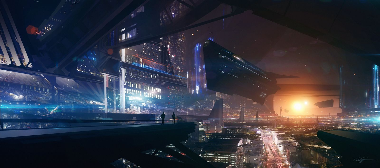 Cyberpunk, Future City, Cyber City, Futuristic City, Night ...