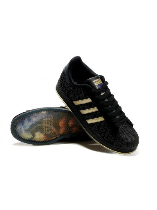 adidas superstar 2 black gold