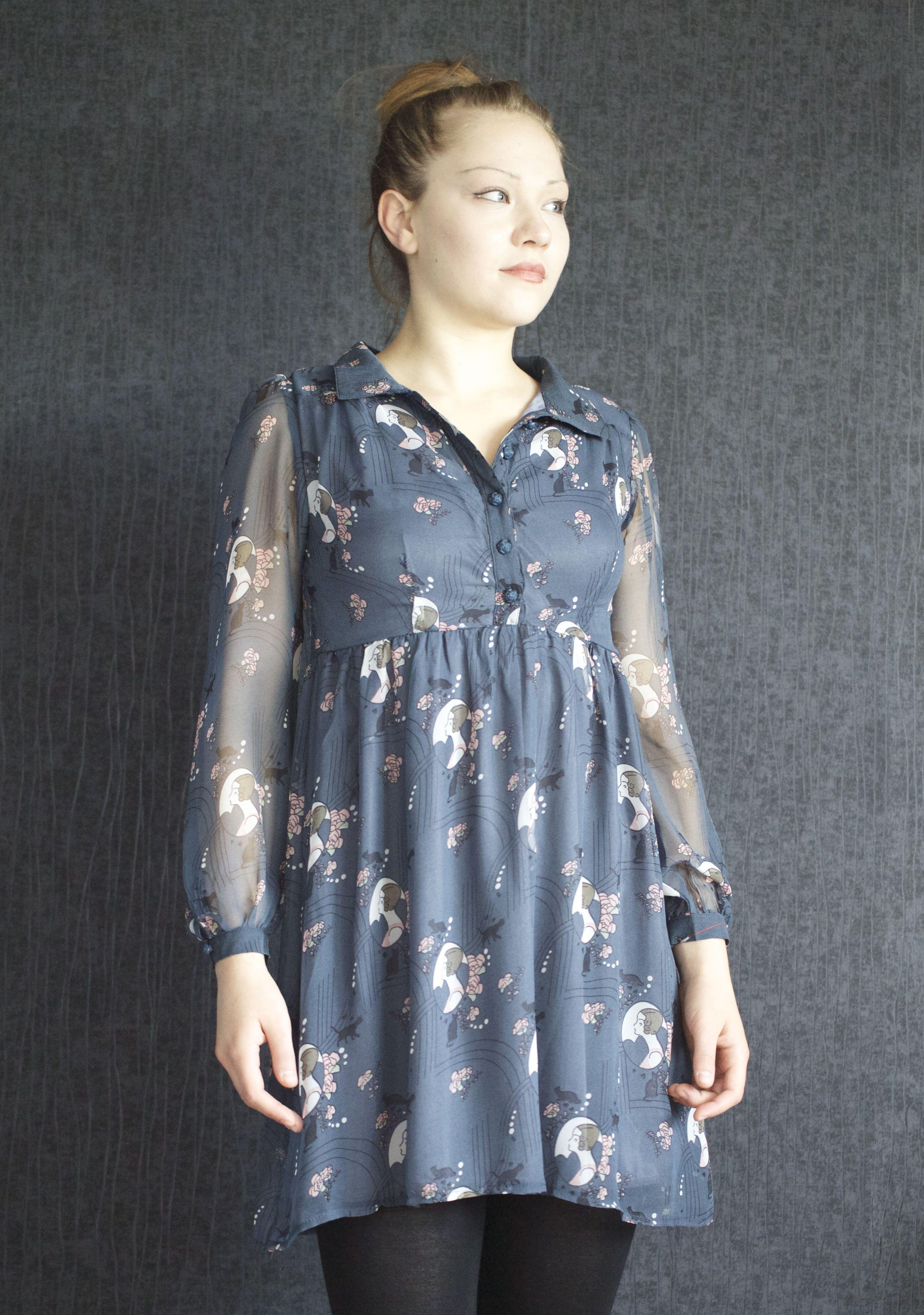 Yumi dress tunic yumi summer dressromantic dress vintage dress