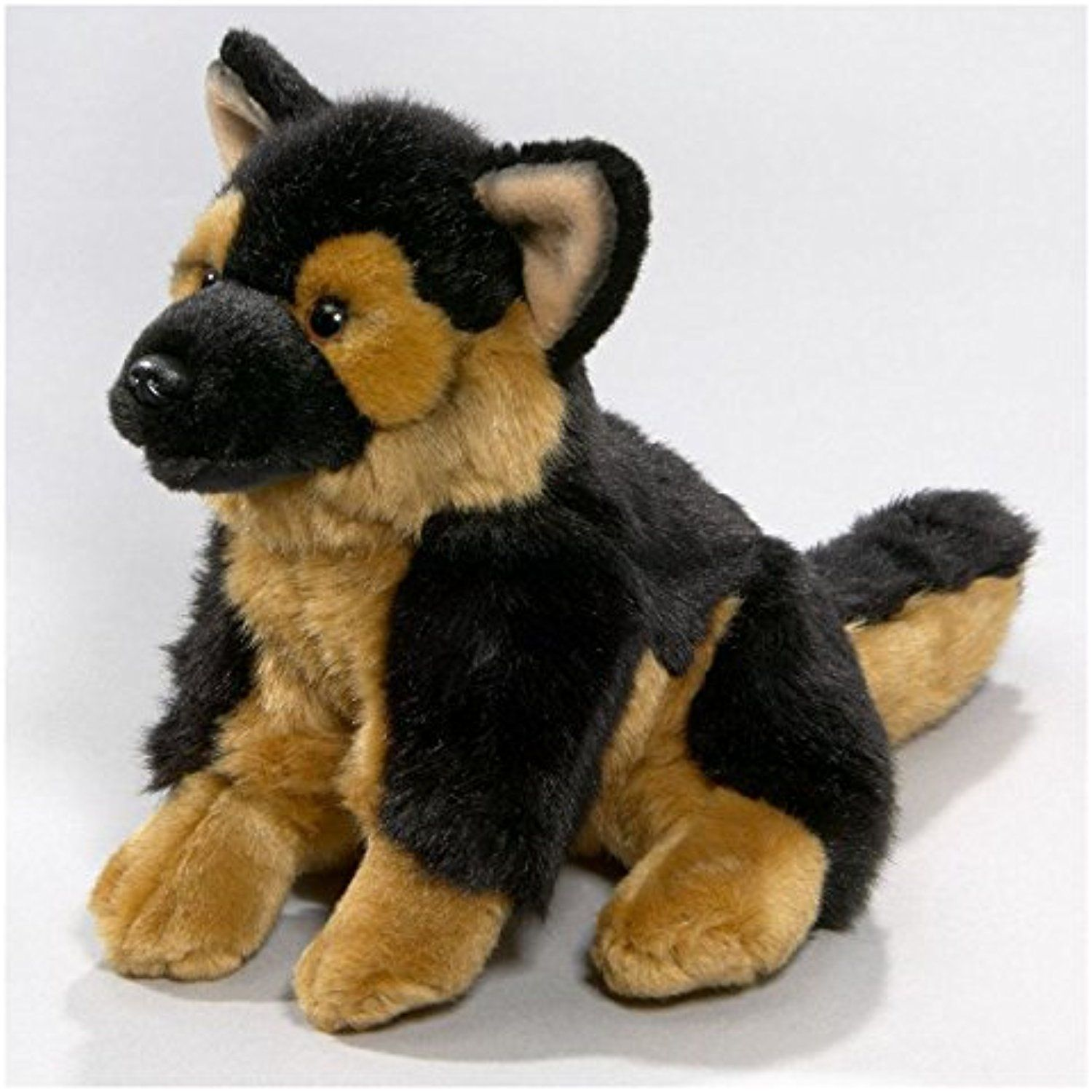 Stuffed Animal German Shepherd Dog sitting, 8 inches, 21cm