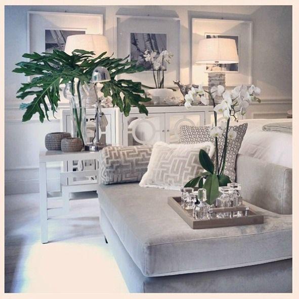 love the grey and white Decor Pinterest Decoración, Plantas y - decoracion de interiores con plantas