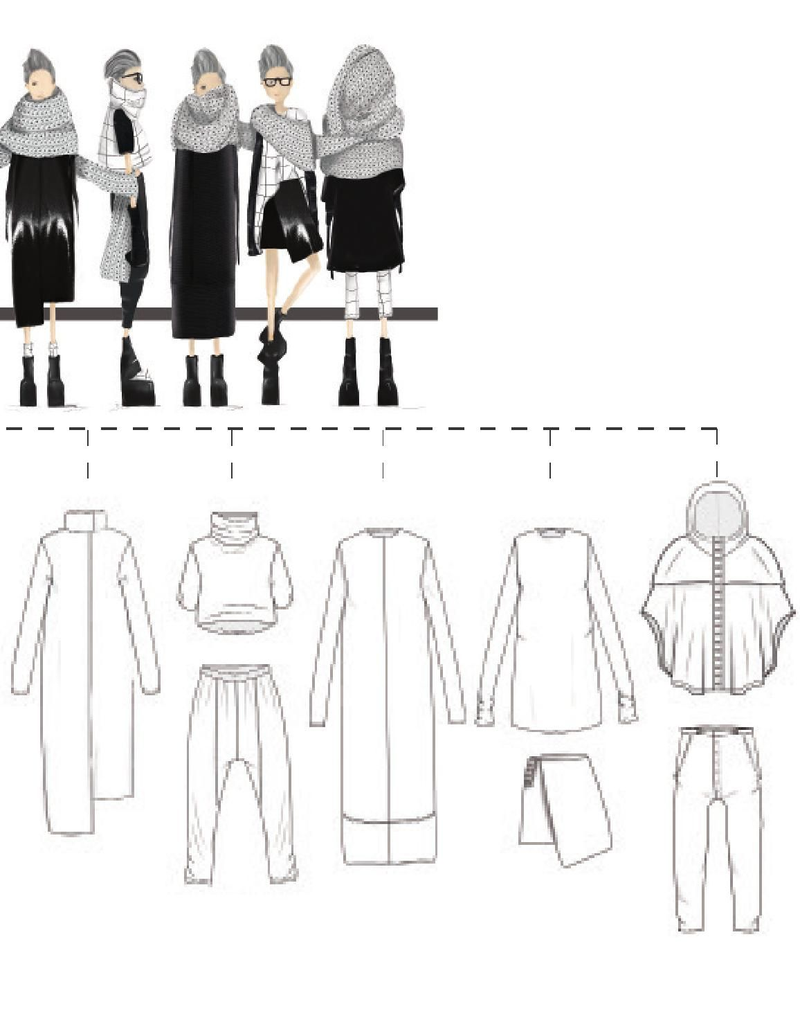 Line Art Fashion Design : Cad the line fashion illustrations design and