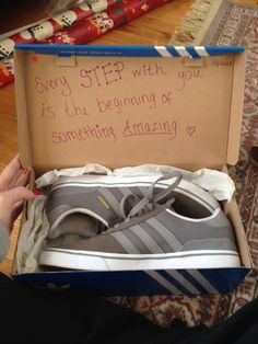 Cute message to go with the shoes :)   Boyfriend/Husband Gift ...