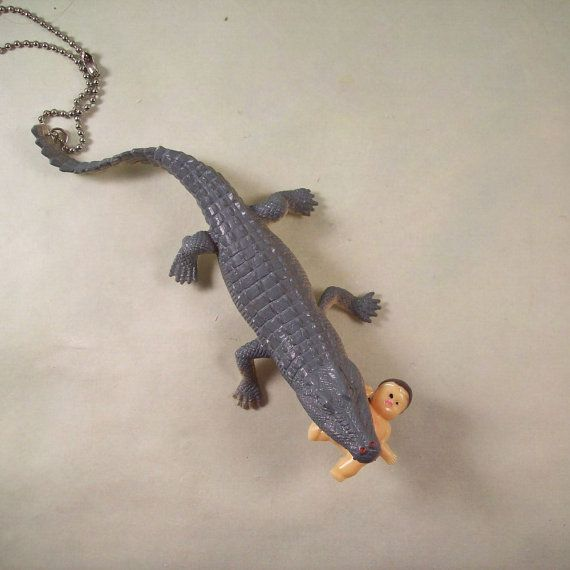 Baby-Eating Alligator Necklace