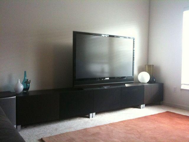 Tv Meubel Bonde.Contemporary Concealed Entertainment Center Ikea Entertainment