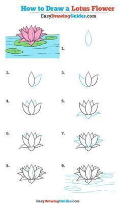 How To Draw A Lotus Flower Really Easy Drawing Tutorial Easy