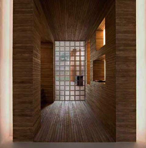 Pav s como separaci n glass bricks pinterest - Estanterias separadoras de ambientes ...