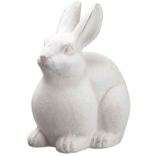 Allstate Terra Cotta Bunny Statue (5,215 INR) ❤ liked on Polyvore