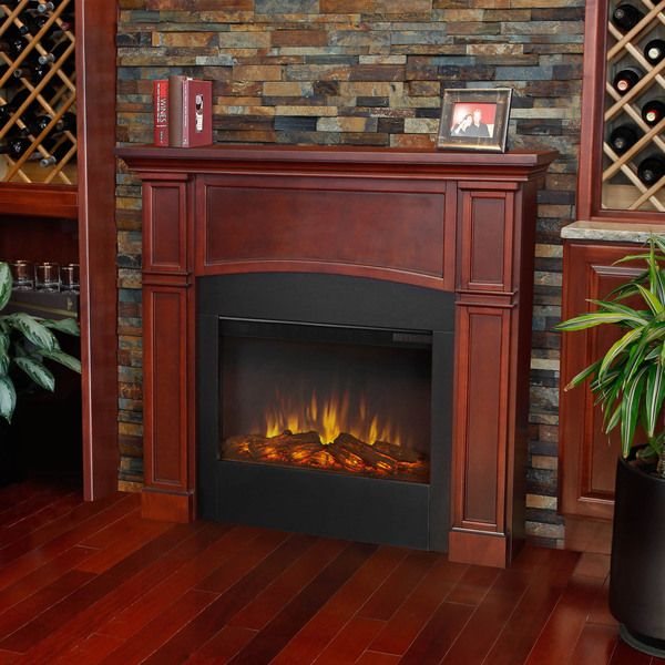 Real Flame Dark Mahogany Bradford Electric Fireplace By Real Flame