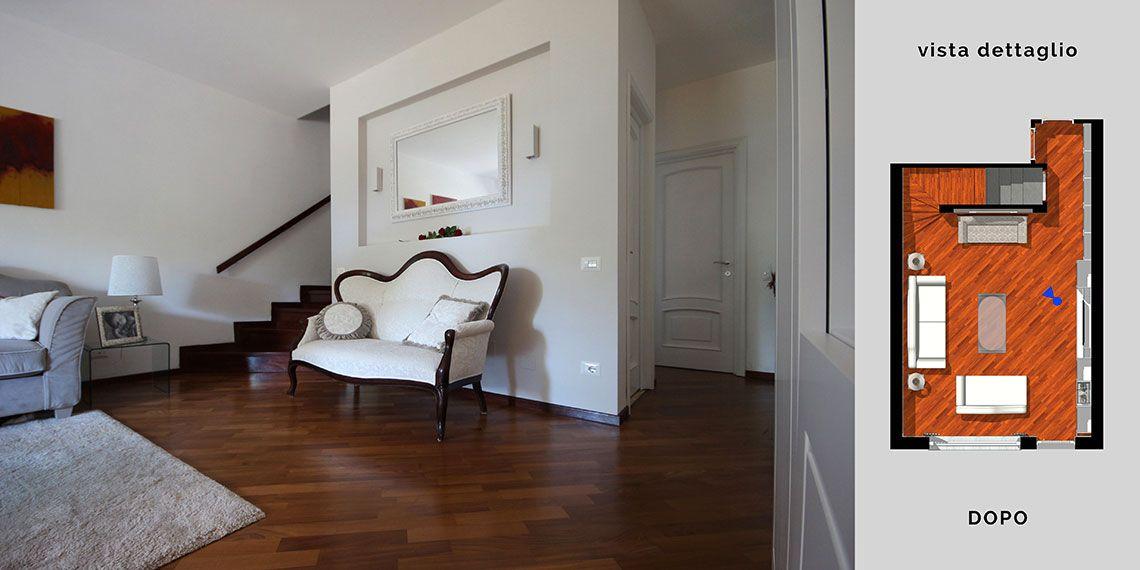 Arredamento classico moderno per il soggiorno a Torino. Una boiserie ...