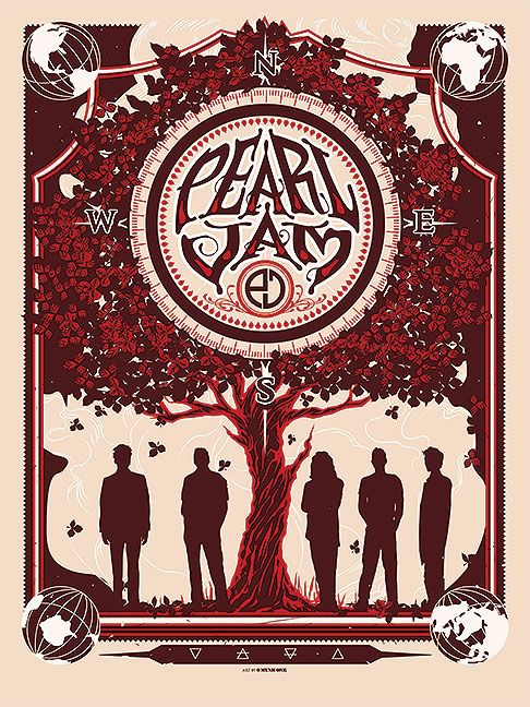 Pearl Jam Munk One 2013 Concert Poster And Other Music