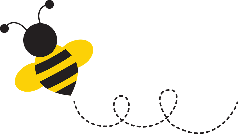 cute bee png - Minus Honey Logo, Cute Bee, Bee Gifts, Buzzy Bee, Spelling -  Bee With Trail Clipart | #4326772 - Vippng | Bee stencil, Bee clipart, Bee  decals