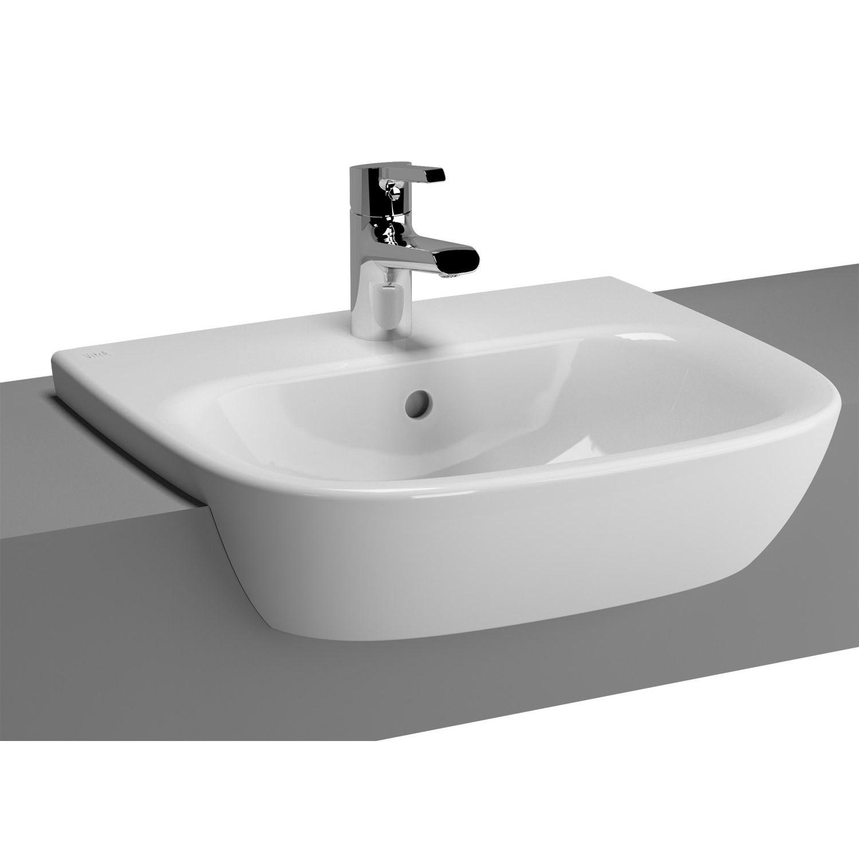 Vitra Zentrum 495mm Semi Recessed Basin Semi Recessed Basin Vitra Bathrooms Basin