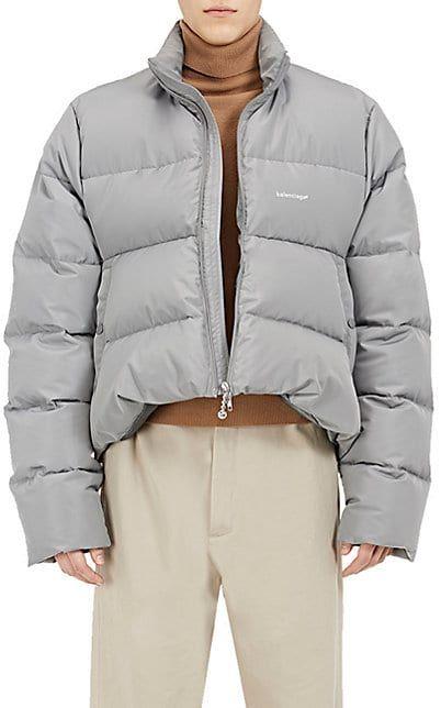 Balenciaga C Curve Trapeze Puffer Jacket Coats