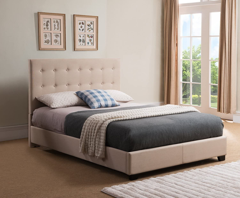 Mantua Sebright Upholstered Platform Bed King Taupe Home