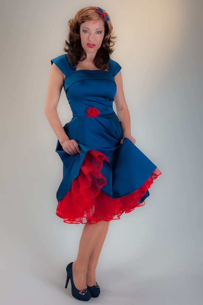red petticoat dresses
