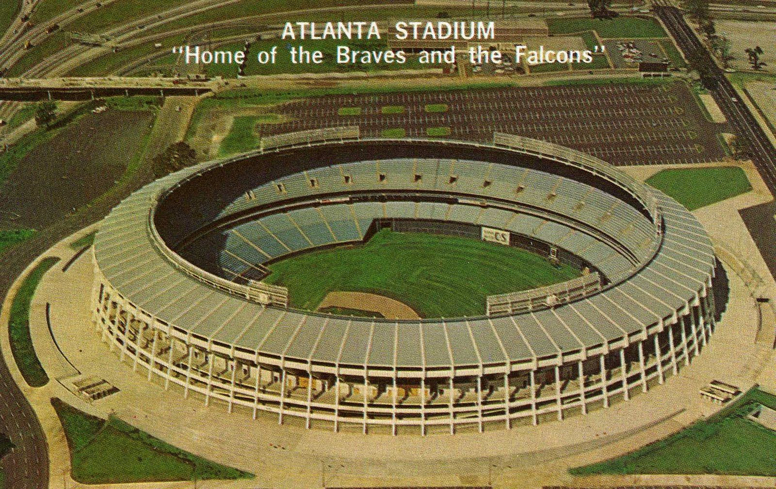 Fulton County Stadium, Atlanta, GA  Former home of the Atlanta