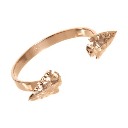 Rose gold double arrowhead cuff at barney's