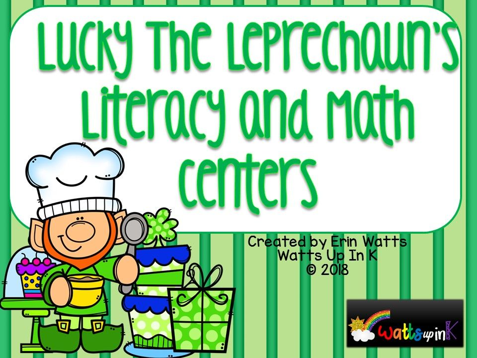 St Patrick S Day Lucky S Bakery Literacy And Math Centers Math